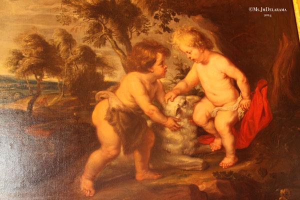 """""""L'Enfant Jésus et Saint Jean""""  Pierre-Paul Rubens Siegen 1577 - Anvers 1640"""