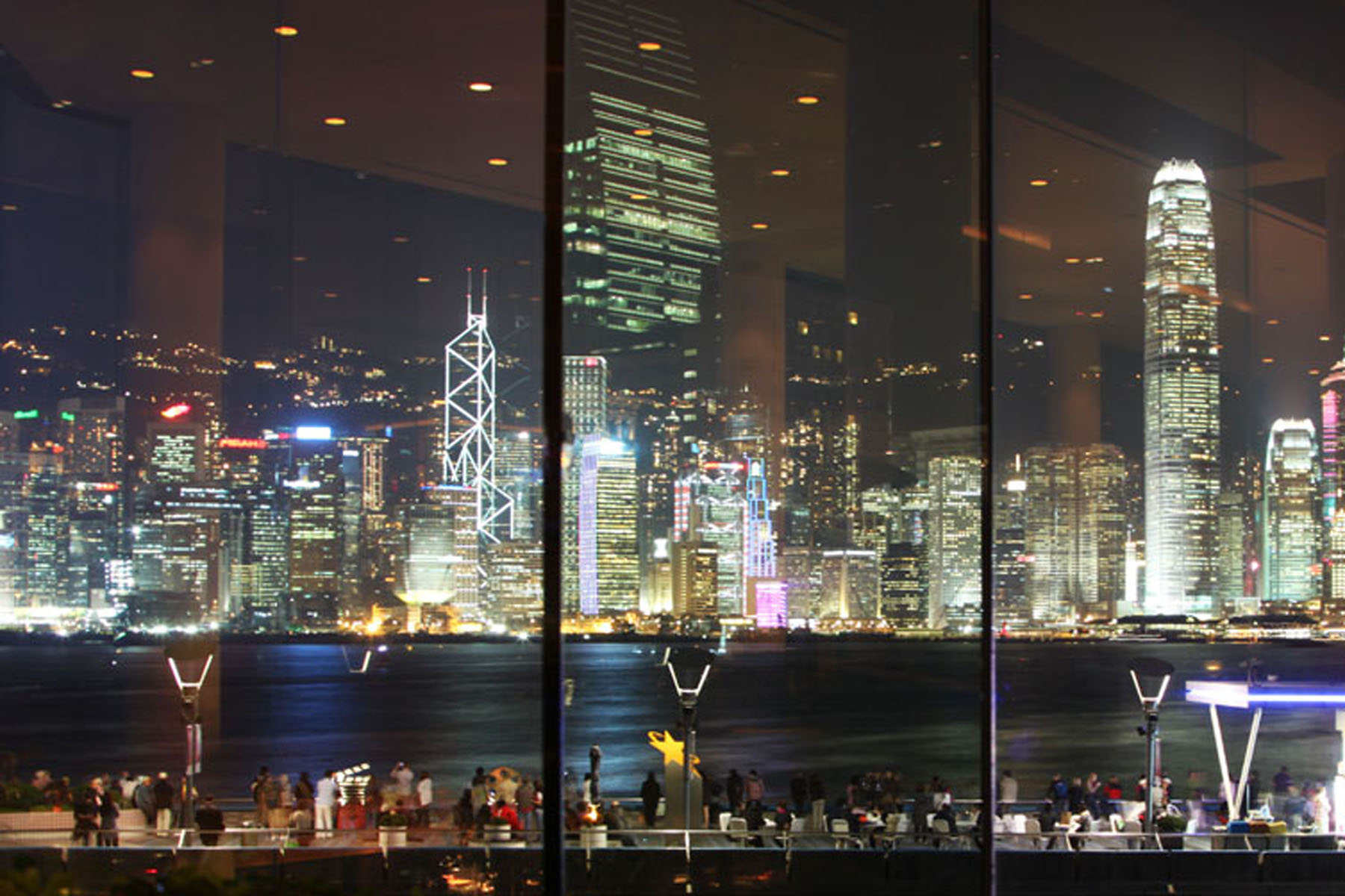 My last trip with her watching Hong Kong's Symphony of Lights