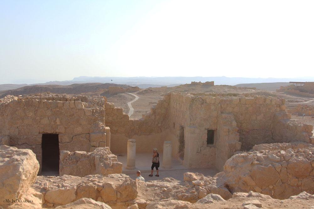 masada ruins ancient city israel travel