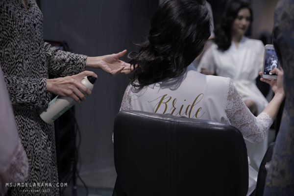 kapwa studio bridal team bridal shoot bridal robe and hair
