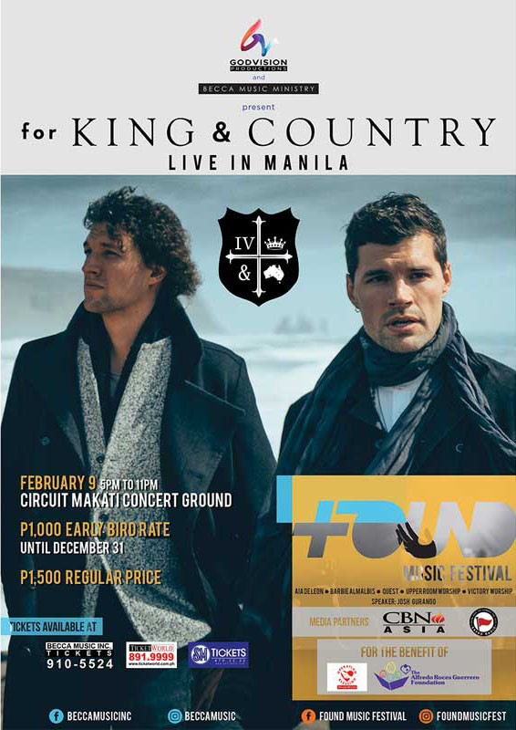 FOUND MUSIC FESTIVAL FEAT. FOR KING AND COUNTRY AND MORE!