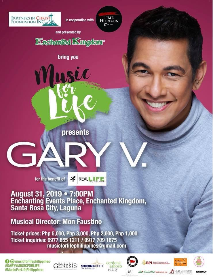 Music for Life with Gary Valenciano for Real LIFE Foundation