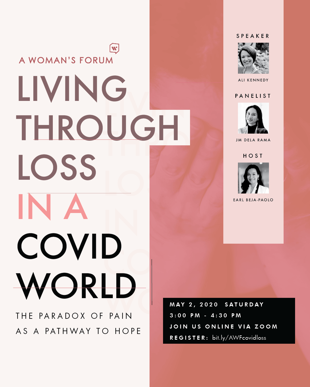 Living Through Loss in a COVID World: The Paradox of Pain as a Pathway to Hope (Online Forum/ Webinar)