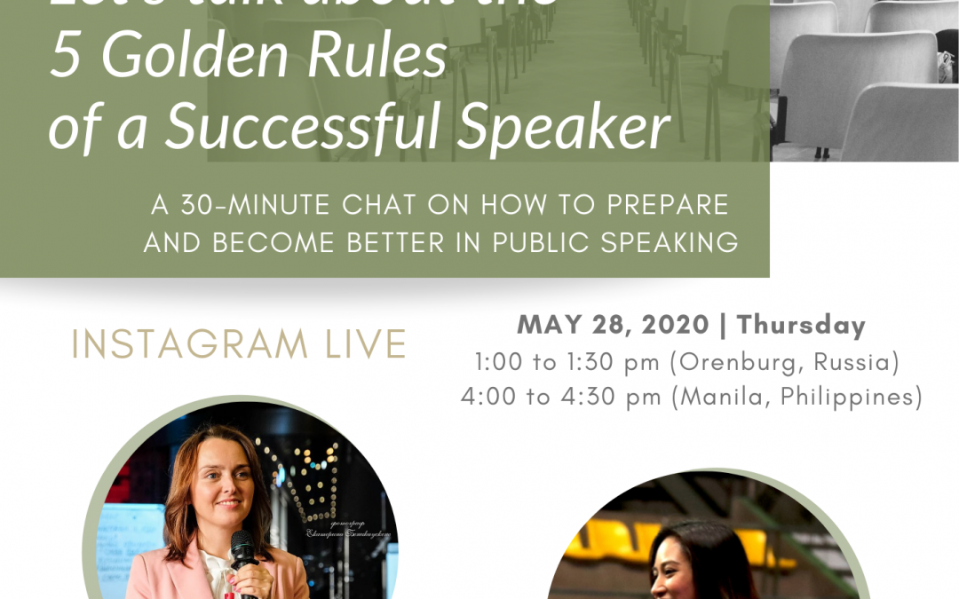 The 5 Golden Rules of a Successful Speaker