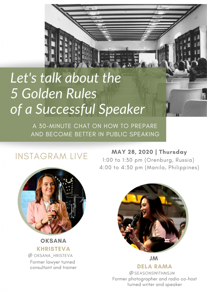 public speaking poster instagram live